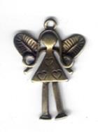 Metallanhänger Engel gold