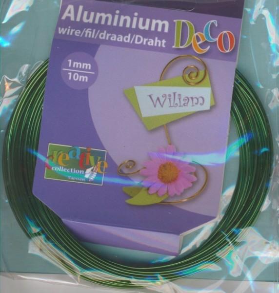 Aludraht 1mm dunkelgrün 10m