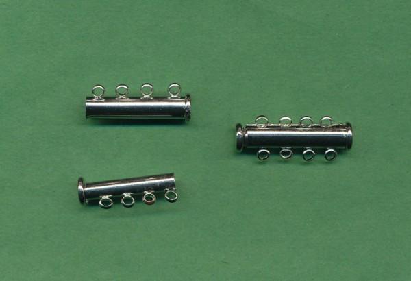Magnetschiebeverschluss 4-reihig platin