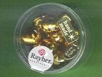 Glas-Perlen rund 12mm gold