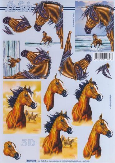 3D Motivbogen Pferde 2