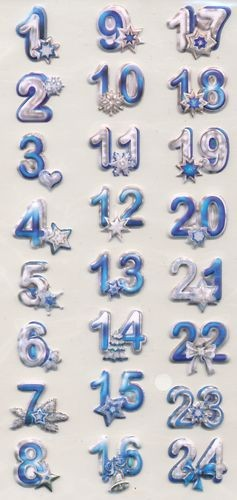 CreaPop Softy-Sticker Adventszahlen 1-24