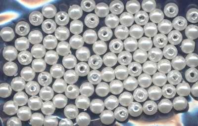 Wachsperlen 4mm weiß