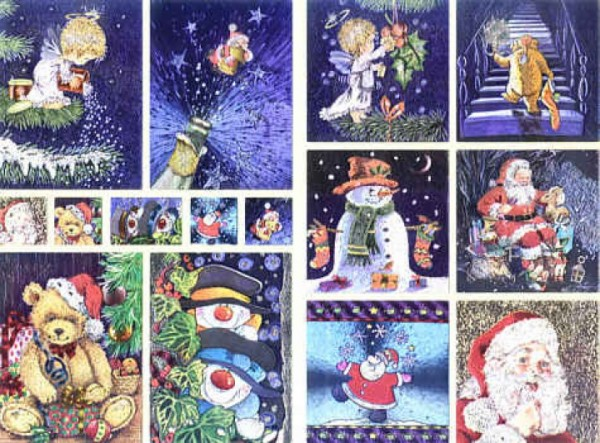 Dufex Sticker Weihnachtsteddys