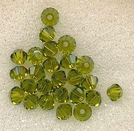 Swarovski Glasschliffperlen 3mm oliv
