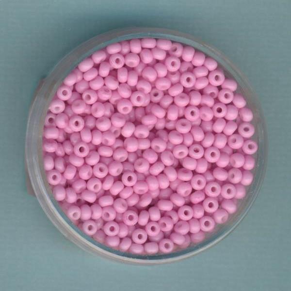 Rocailles 2,6mm rosa opak