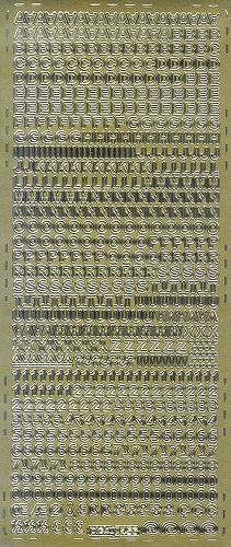 Sticker Buchstaben und Zahlen 5mm gold