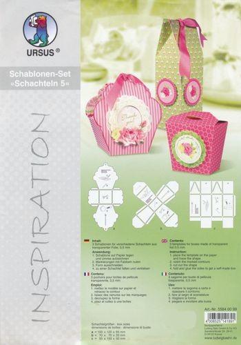 Schablonen-Set Schachteln 5