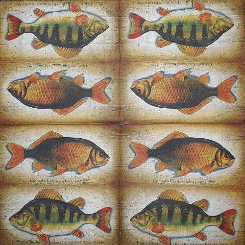 Serviette Fische 2