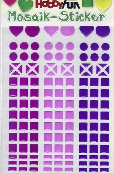 Mosaik-Sticker magenta-petunie-lila
