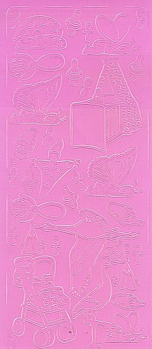 Sticker Babysachen 2 rosa