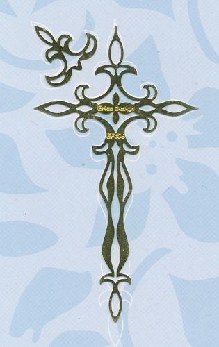 Embossingschablone Kreuz