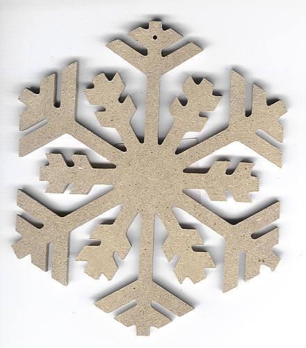 Holz-Dekor Eiskristall klein