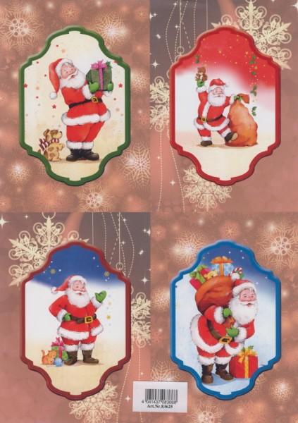 83625_3D-Stanzbogen-Weihnachten-Weihnachtsmänner