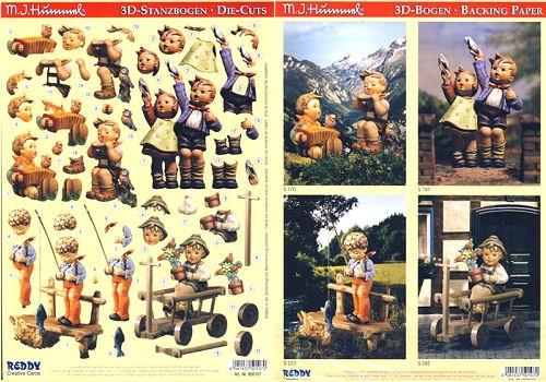 3D-Stanzbogenset Hummel 950107