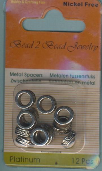 1174640007_Metallzwischenteile-Ringe-gemustert-platin-12-Stück