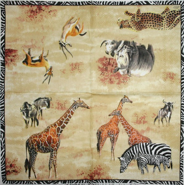 Serviette Wildlife cream