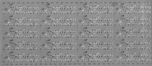 Sticker Herzlichen Glückwunsch 8 silber