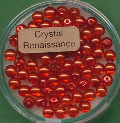 Crystal Renaissance 4mm orange