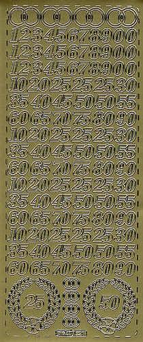 Sticker Jubiläum gold