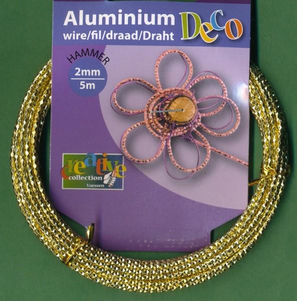 Aludraht 'Hammer' 2mm goldfarben