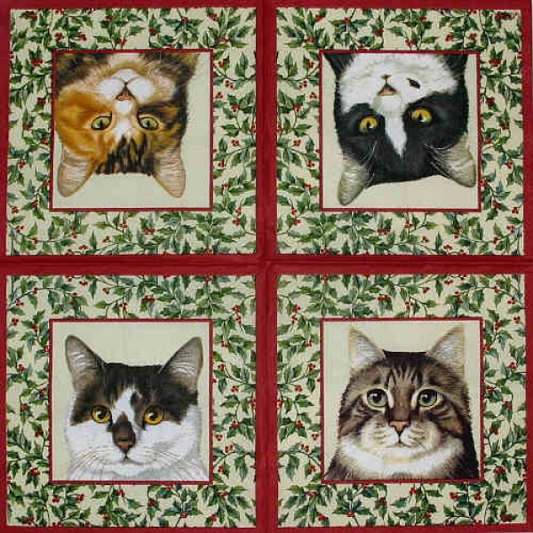 Serviette Cats Xmas