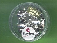 Glas-Perlen 12mm silber