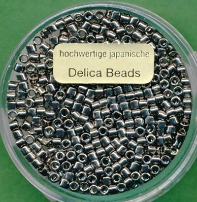Delica Beads 2,2mm platin glänzend