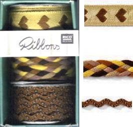Ribbonset 3x1m braun Grundpreis: € 1,00/1m