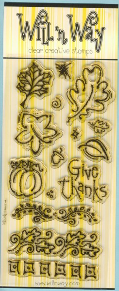wwst4822 Clear Art Stamps Transparente Stempel Blätter