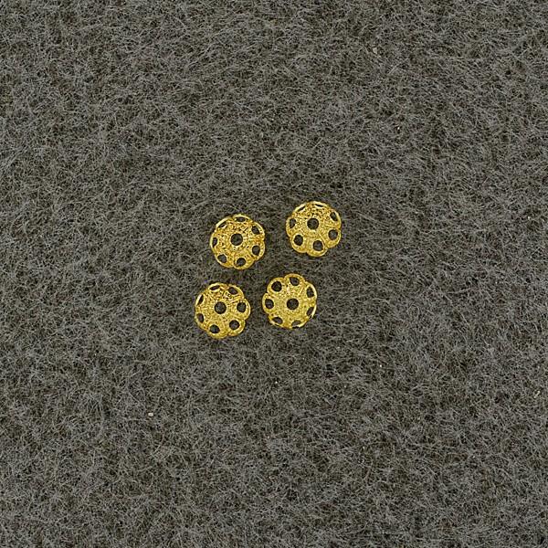 Perlkappen 5mm gold