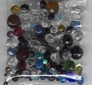 Glas-Schliffperlen bunt