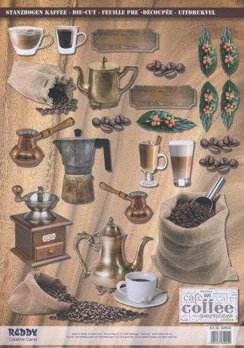 Stanzbogen Kaffee