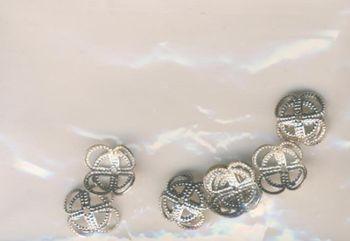 Perlkappen 10mm silber 10 Stück