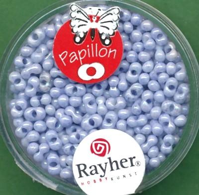 Papillon-Rocailles 2x4mm himmelblau
