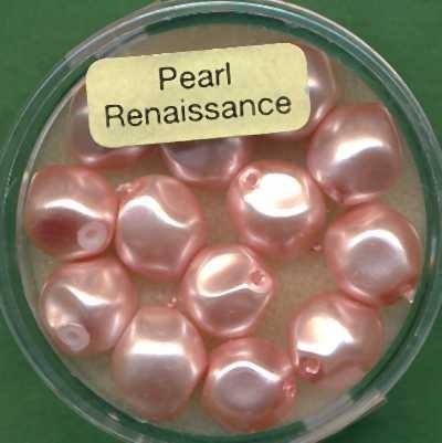 Glaswachsperlen 9mm rosa