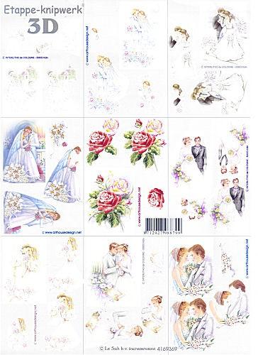 Motivbogen Brautpaar VIII