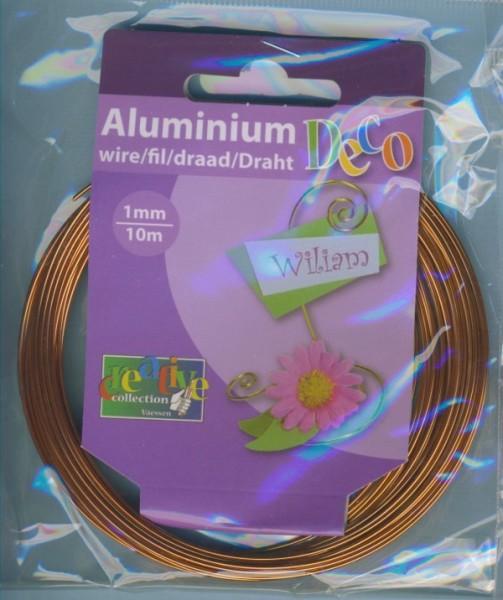 Aludraht 1mm orange copper 10m