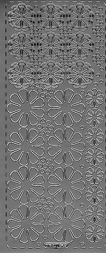 Sticker Blumen5 silber