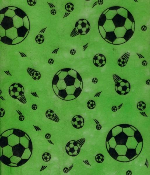 Vlies Fussball grün