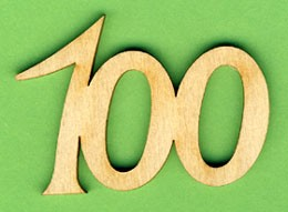 Jubiläumszahl 100 - 33mm