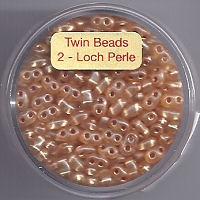 Twin-Beads orange silbereinzug 12g