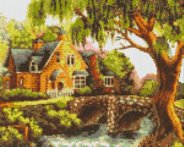 Set Haus mit Brücke