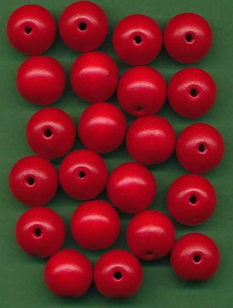 Holzperlen 16mm rot