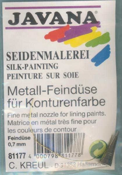 81177 Metall Feindüse 0,7mm für Konturenfarbe Seidenmalerei