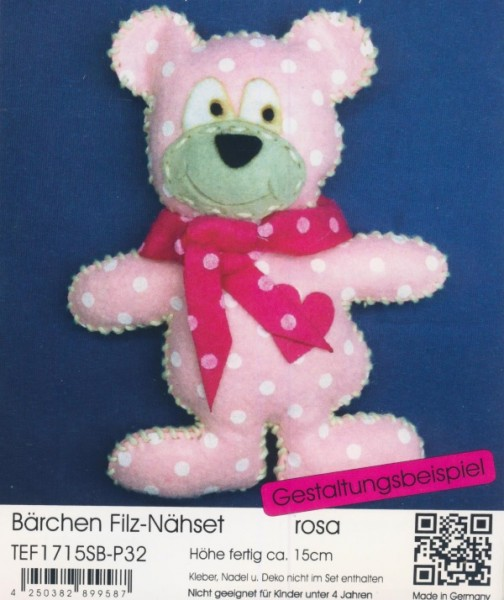 Filz-Nähset Bärchen rosa