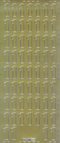 Sticker Ziffer 1 20mm gold