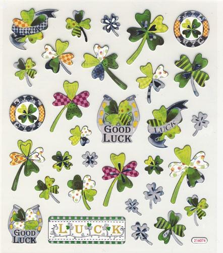 Design Sticker Glücksklee