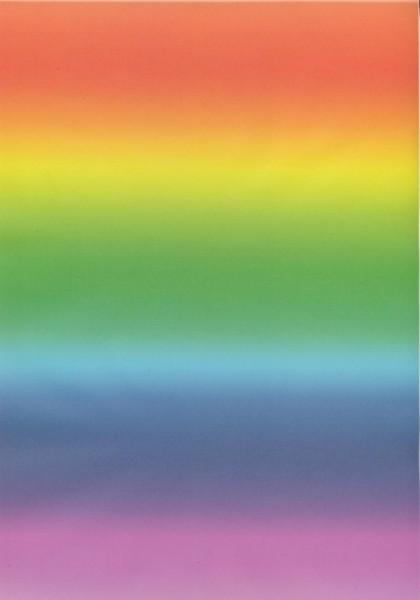 Transparentpapier Regenbogen quer