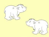 Holz-Deko Eisbär 3cm